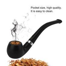 Мини-кальян, бакелитовые сигареты, элегантные табачные трубы, черные прочные курительные сигареты, курительная трубка 29