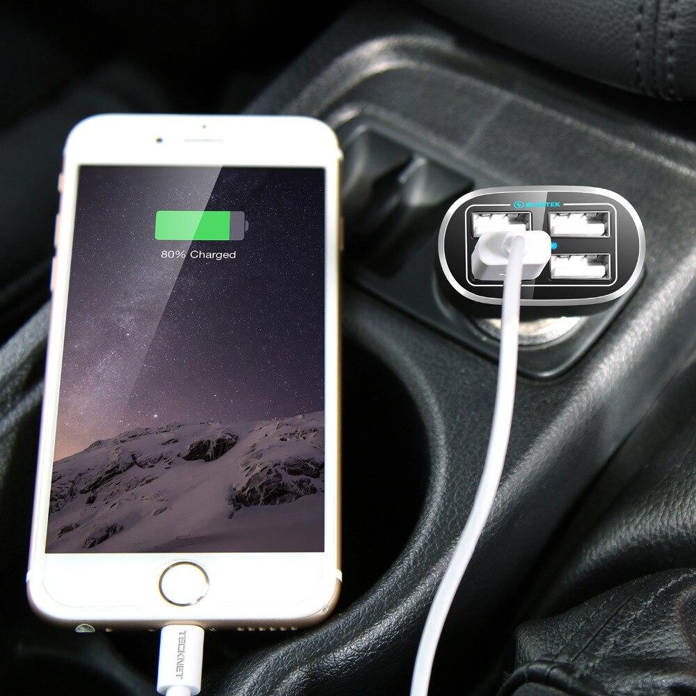 TeckNet USB-billaddare 9.6A / 48W 4-port USB-billaddare med smart - Reservdelar och tillbehör för mobiltelefoner - Foto 6