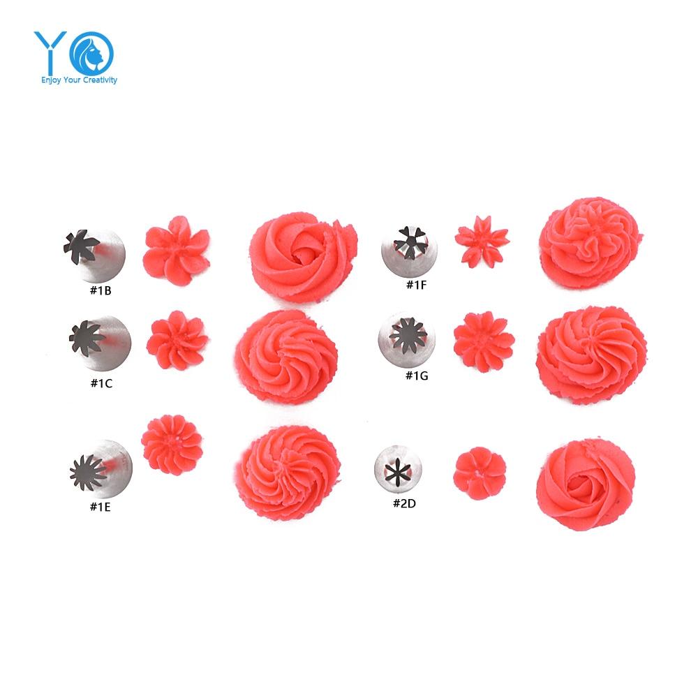 Boquillas de gran tamaño para decorar boquillas Puntas de formación de hielo Boquilla de alta calidad sin costura para hornear tubos Herramientas para pasteles Para hornear