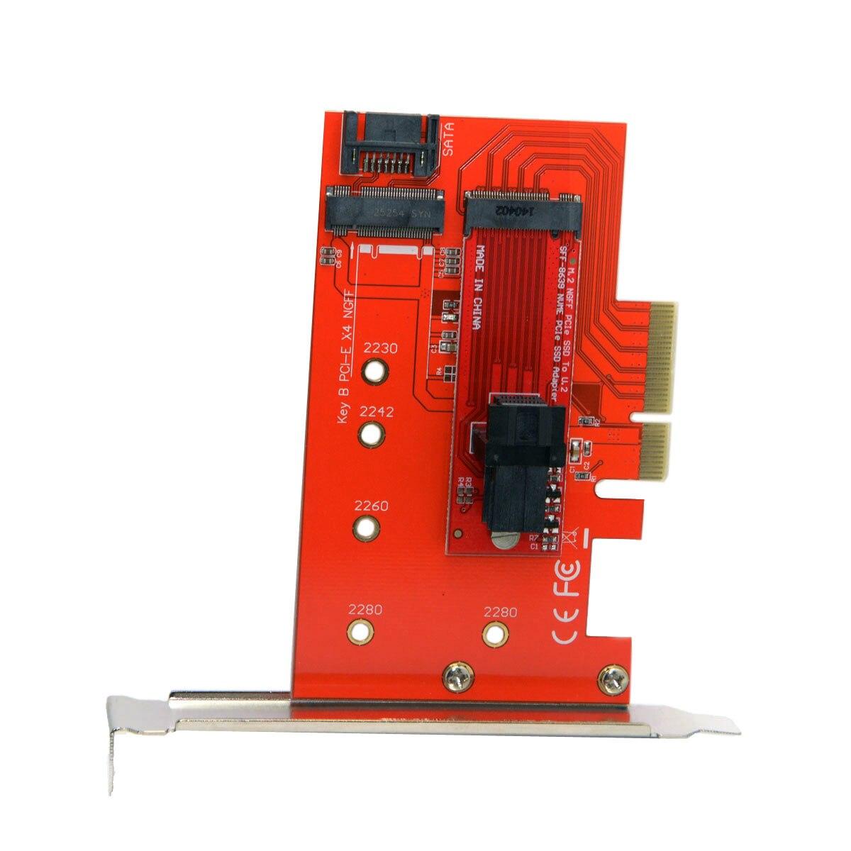 PCI-E 3,0x4 Lane usb-адаптер M.2 NGFF M ключ SSD в U.2 U2 комплект SFF-8639 для Материнская плата Intel SSD 750 p3600 p3700 ...