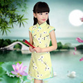 Top Quality Girls Cheongsam Chinese Style Straight Elegant Kids Dresses Traditional China-Tang Girl's Cheongsam Princess Dress