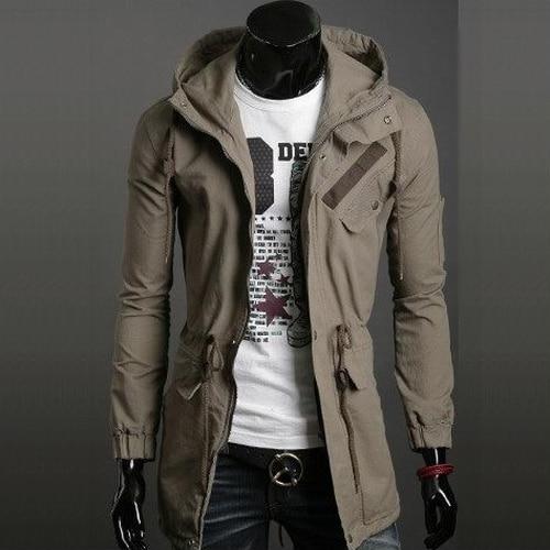 Free shipping,New,Hot,men's,fashion,male,military medium long ...
