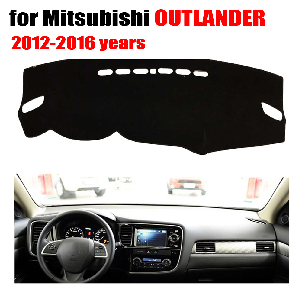 Car dashboard Covers mat For Mitsubishi OUTLANDER 2012-2016 years left hand drive custom dashmat car dash pad auto accessories