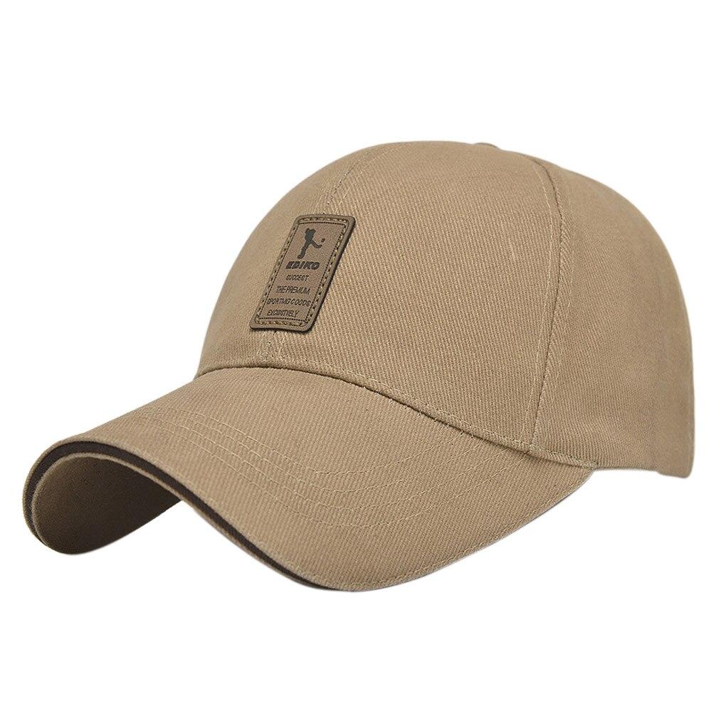 2019 Sunscreen Men's Cotton Outdoor Adjustable   Baseball     Cap   Sun Hat Pure Color For Outdoor For Women