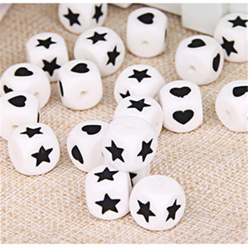Image 5 - Chenkai 50pcs 12mm BPA Free Loose Silicone Star Teether Beads DIY Baby Heart Chewing Jewelry Teethers Necklace Toy Beadsteether siliconebaby teetherbaby chews -