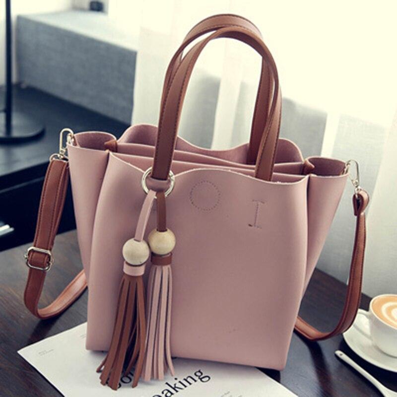 Çantalar Koreyalı Tassel Böyük Çanta Payız Yeni Qadın - Çantalar - Fotoqrafiya 2
