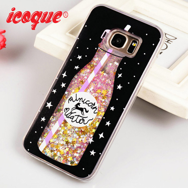 low priced f8b95 22863 US $3.89 10% OFF ICOQUE Cases For Samsung Galaxy S7 Edge Case Glittter  Luxury Quicksand Cute Girl S7edge Phone Case For Samsung S7 Edge Cases-in  ...