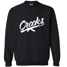 New Men's Crooks&Casles long sleeve T shirt Slim skateboard Street Cotton Top Casual Hooded sweater