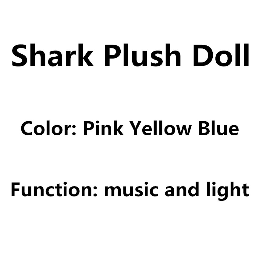 New 32cm Soft Cartoon Baby Shark Doll With Music Cuddly Animal Plush Doll Shark Toy Gift For Children And Girls