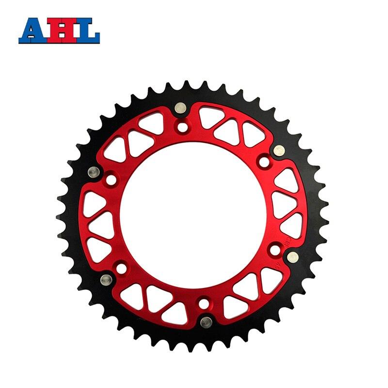 цена на Motorcycle Parts Steel Aluminium Composite 46 ~ 52 T Rear Sprocket For HONDA CRF450R CRE F300R CRE125R CRE250R CR125R CRE F250R
