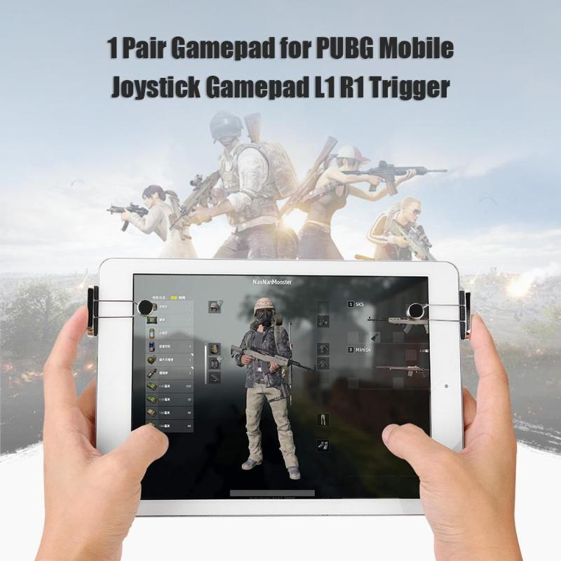 1 Pair PUBG Tablet Gamepad For iPad Trigger Mobile Joystick Gamepad L1 R1 Controller Shooter Gaming Trigger image