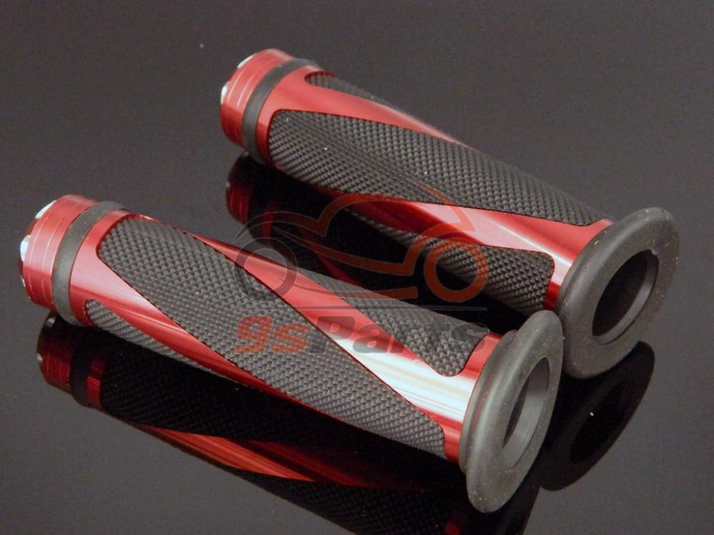 """Красная алюминиевая гоночный мотоцикл 7/"""" Гель для руля прорезиненные ручки для Honda Yamaha Suzuki Kawasaki KTM ATV Ducati"""
