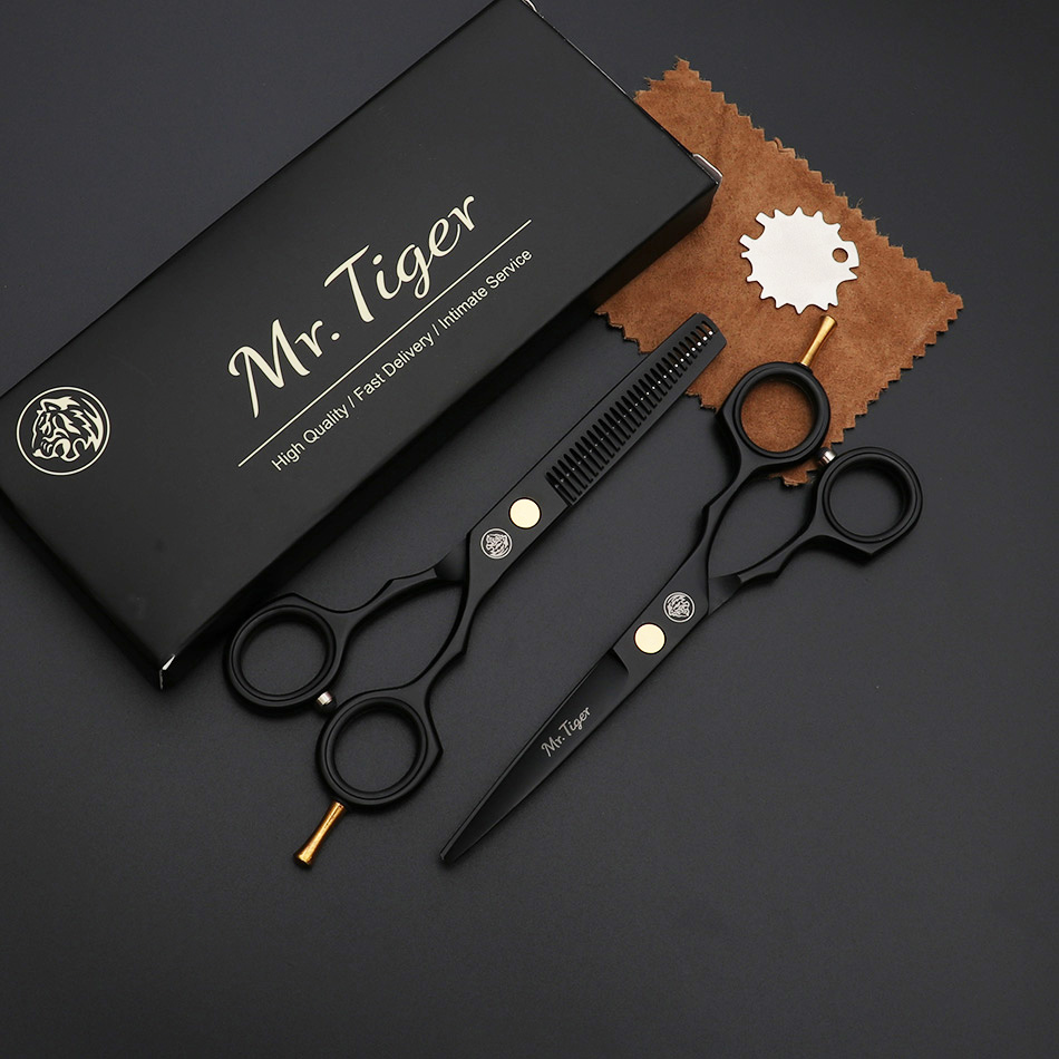 Image 2 - Japan Steel 5.5 6.0 Professional Hairdressing Scissors Hair Professional Barber Scissors Set Hair Cutting Shears Scissor Haircut-in Hair Scissors from Beauty & Health