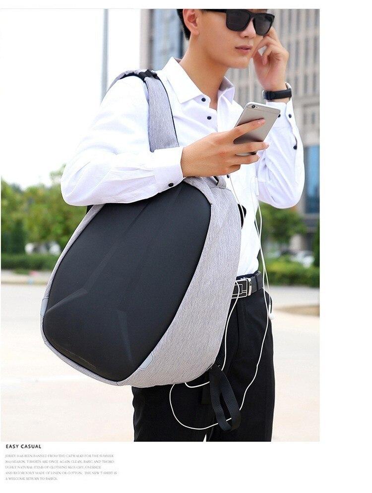 Novo portátil mochila homem multi função de
