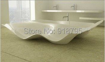 2350x1850x630mm Solid Surface Stone CUPC Approval Bathtub Rectangular Freestanding Corian Matt Or Glossy Finishing Tub RS6524