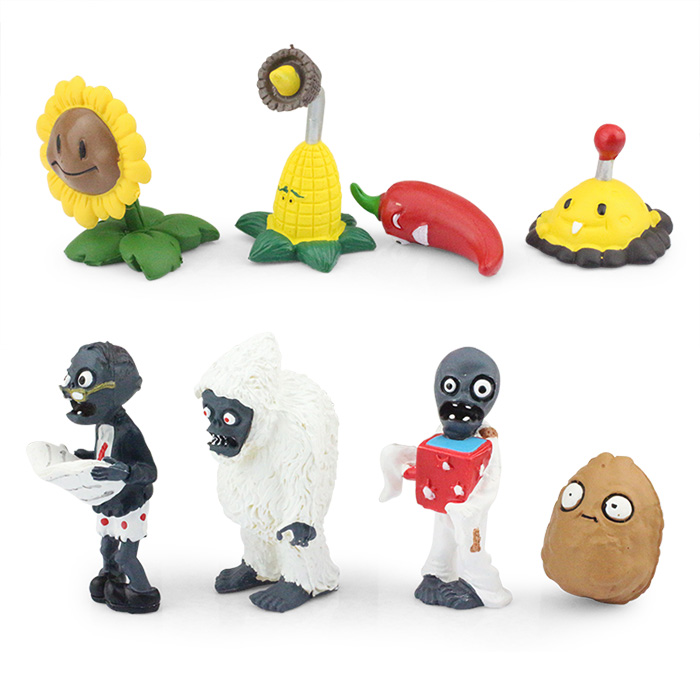 52 ピース/セット植物対ゾンビ PVZ コレクションフィギュアおもちゃ植物やゾンビフィギュアのおもちゃ送料無料  グループ上の おもちゃ & ホビー からの アクション & トイ フィギュア の中 3