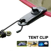 Tent Clip Adjustable Plastic Windproof Tent Clip Reusable Outdoor Tarpaulin Clips for Activities Camping Canopy Clip Nylon
