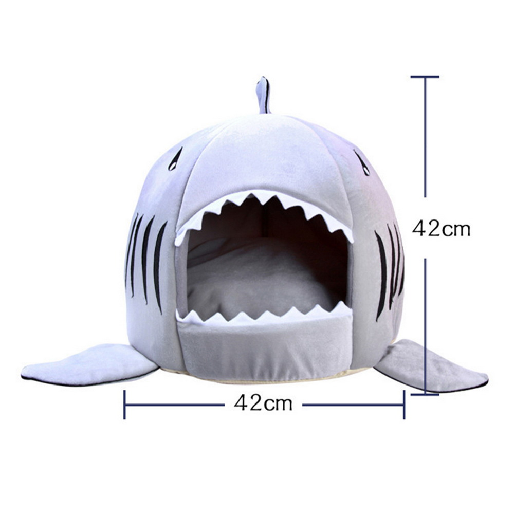 Dozzlor Shark Cat House Bedding Basket Cute Pet Products Sleeping Small Medium Puppy Litter Dog Bed Lounger For Animal 3 Colors #3