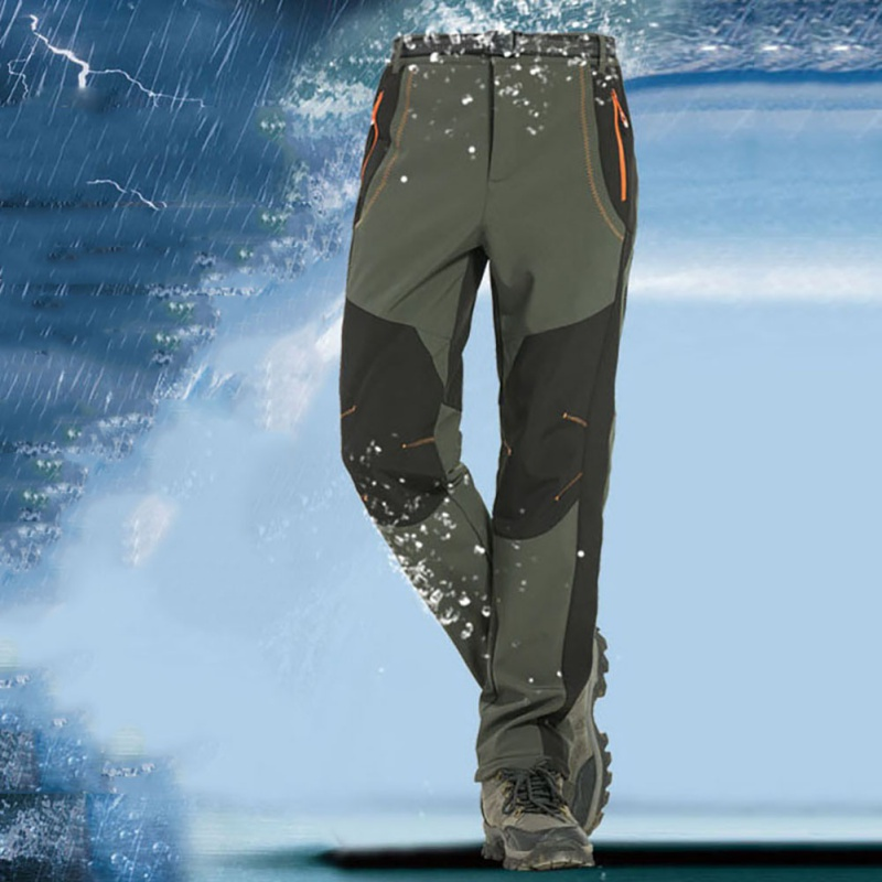 Outdoor Windproof Waterproof Softshell Fleece Snow Pants Hiking Camping Hiking Pants Thermal Autumn Winter Trousers