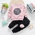 2color Kids Clothes Boys Girls Clothing Set Baby Toddler Girls Clothing Children Tracksuit Kids Hip Hop Clothing Spring winter