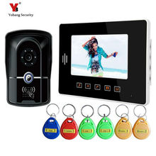 Yobang Security  7″Door bell Night Vision video intercom Camera Home Apartment Entry Kit video door phone door video camera
