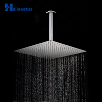 16 40cm*40cm Rain Shower Square Head With Shower Arm For Bathroom Ceiling Mounted Stainless Steel Chrome Finished Shower Set