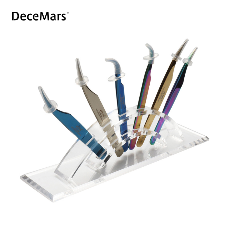 Tweezers Storage Holder Eyelash Extension Eyebrow Tweezers Scissor Storage Rack Acrylic Holder Stand Beauty Makeup Tools