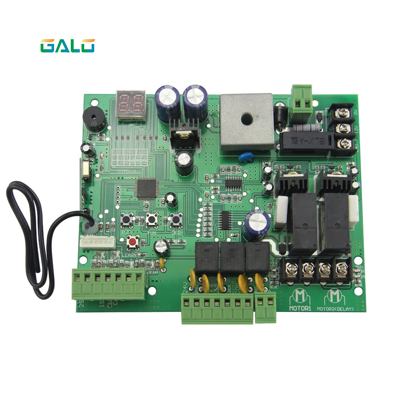 Image 3 - galo DC12V Swing Gate Control Board connect back up battery or solar system with remote control amount Optional-in Access Control Kits from Security & Protection