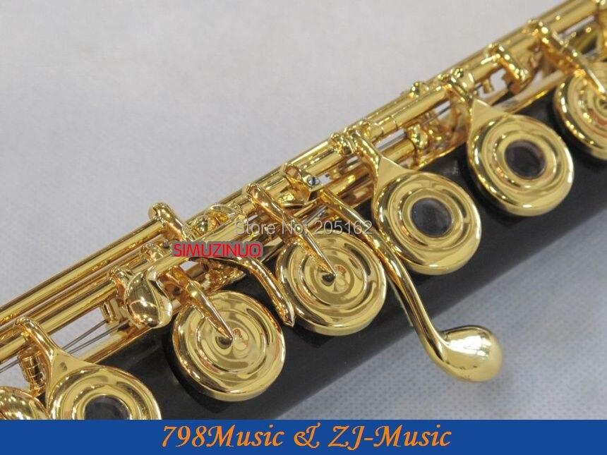 Ulduz çayı (SR) GDWFL-683-Ebony Wood Grenadilla Flute-B ayaq-Açıq - Musiqi alətləri - Fotoqrafiya 5