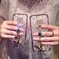Роскошный Бриллиантовый Браслет Телефон Дело Чехол Для iPhone 5 5S se 6 6 s плюс гальванических чехол Лучший подарок 1 шт. бесплатная доставка