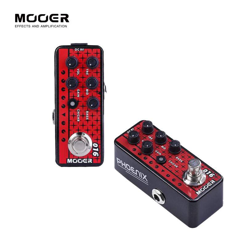 MOOER 016 PHOENIX electric guitar pedal High quality dual channel preamp Independent 3 band EQ mooer 001 gas station digital preamp electric guitar pedal high quality dual channel preamp independent 3 band eq