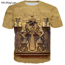 Vintage Egyptian Pharaoh Guard 3D Print T shirt Men/women Retro Streetwear T-shirt 2019 Summer Man Crewneck Tshirt Clothes Tops