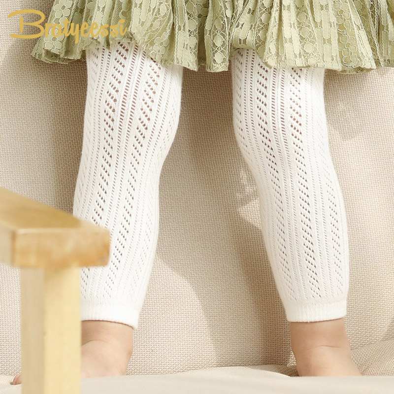 White Cotton Baby Leggings Summer Hollow Out Kids Girls Baby Pants & Capris Children Legging for 0-4 Years black hollow out stretchable leggings