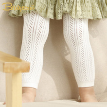 White Cotton Baby Leggings Summer Hollow Out Kids Girls Baby Pants & Capris Children Legging for 0-4 Years