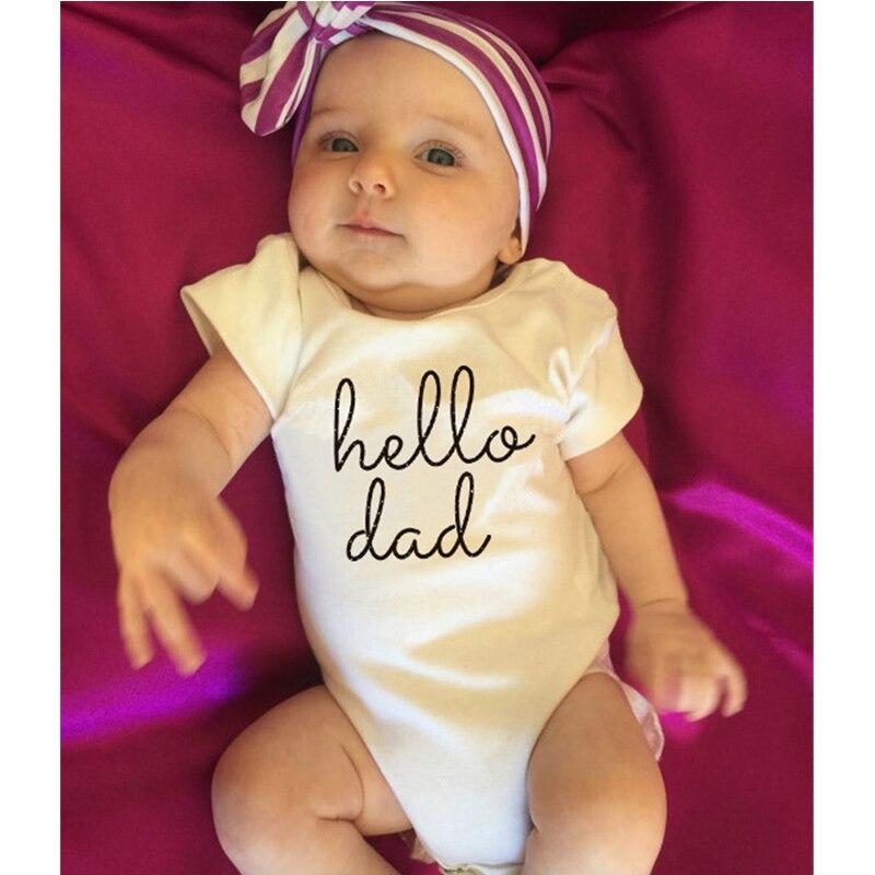 2018 Ubrania dla niemowląt Białe letnie body niemowlęce z - Odzież dla niemowląt - Zdjęcie 5
