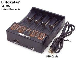 Image 2 - Liitokala cargador inteligente Lii402 Lii202 2020, 18650 V, 1,2 V, 3,7 V, AA/AAA, NiMH, cargador de batería de iones de litio de 5V, 2A, enchufe europeo/Americano/británico, 3,2