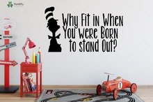 Wall Stickers For Kids Rooms Quotes Why Fit In When You Were Born to Stand Out Kids Nursery Wall Decal Home Art Mural DecorSY256