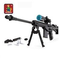 mylb Sniper Assault Rifle GUN Weapon Arms Model 1:1 3D DIY Building Blocks Bricks Children Kids Toys Gifts