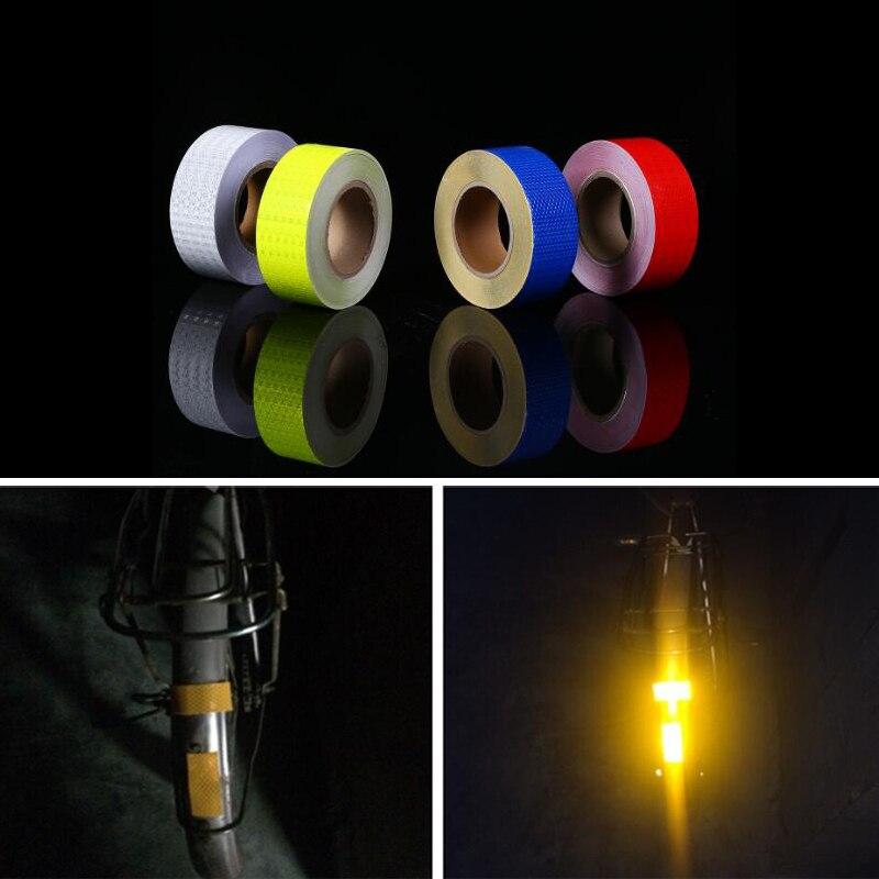 Купить 5 см x м светоотражающая наклейка велосипедная ночная предупреждающая