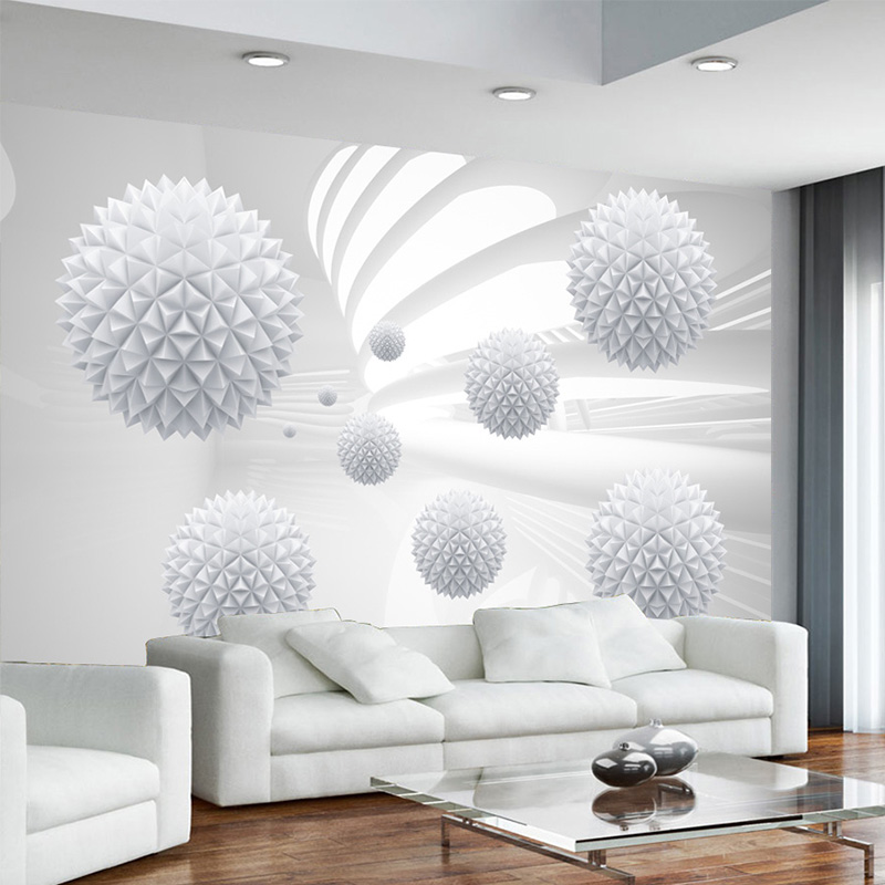 Modern Simple Photo Wallpaper 3D Spherical Geometry Space Wall Mural Living Room Office Backdrop Wall Coverings Papel De Parede