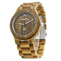 Men Sandalwood Watch Quartz Analog 30m Waterproof Digital Wooden Wristwatch 2018 New Fashion Quartz Clock Christmas Gift