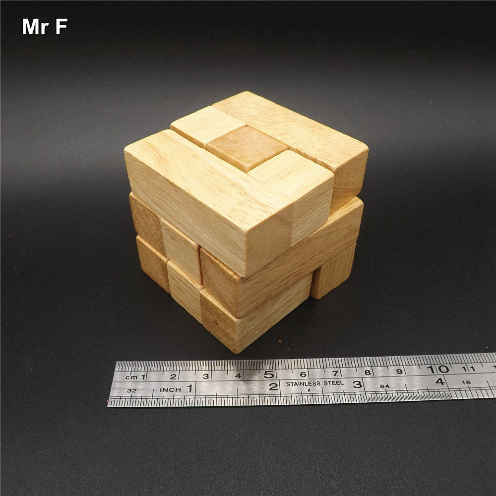 Wooden Intelligence Game 3d Wood Iq Puzzle Brain Teaser Tetris Cube