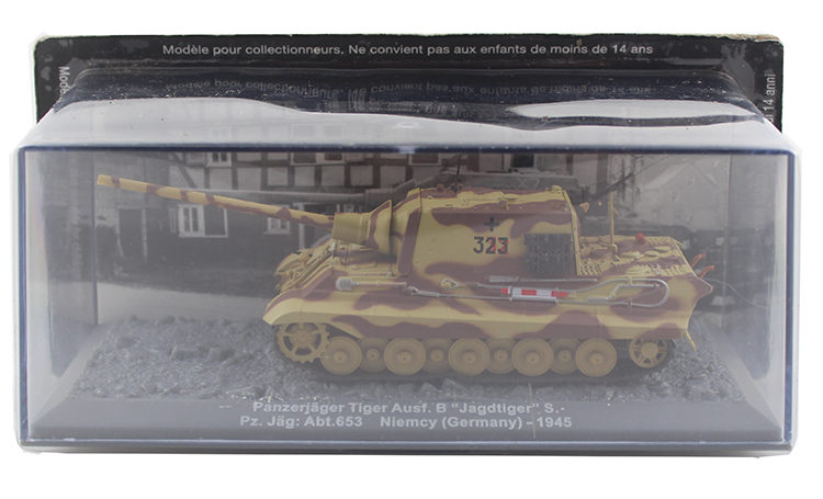 IXO 1/72 the German army Tiger Ausf.B heavy tank destroyer 1945 model Alloy collection model Holiday gift 1 30 wwii german mechanized forces captured the urban combat scenarios alloy model suits the scene fm