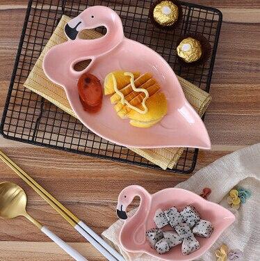 NEW Flamingos Shape Creative Porcelain Plate Snacks or Fruit Ceramic Fruit Dessert Bowl Breakfast Plate Dinnerware Giftbox