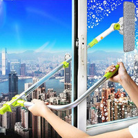 IOKUKI Hot Upgraded Telescopic High rise Window Cleaning Glass Cleaner Brush For Washing Window Dust Brush Clean Windows Hobot