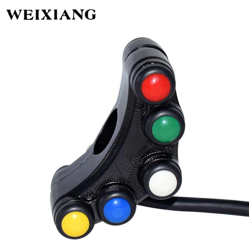 3 Button Horn Headlights ON OFF Switch Control for 12V Motorcycle 22mm Handlebar
