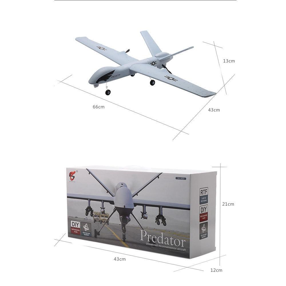 Image 5 - Flying Model Gliders RC Plane 2.4G 2CH Predator Z51 Remote Control RC Airplane Wingspan Foam Hand Throwing Glider Toy Planes-in RC Airplanes from Toys & Hobbies