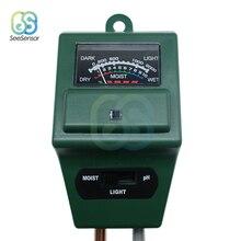 цены на 3 in 1 Plant Flowers Soil Water Moisture PH Tester humidity Light Test Meter Sensor Hydroponics Analyzer Gardening Detector  в интернет-магазинах