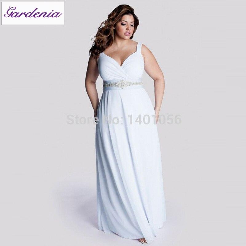 Robe De Mariage Plus Size Casual Beach Wedding Dress Long