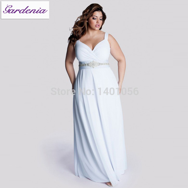 Robe De Mariage Plus Size Casual Beach Wedding Dress Long Chiffon